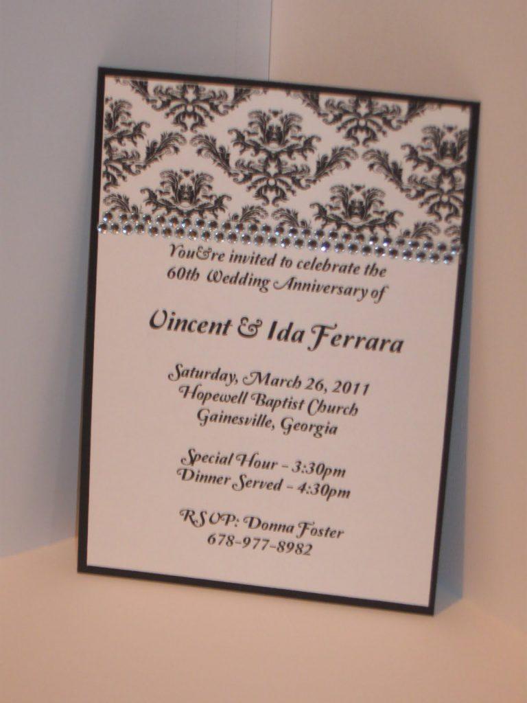 Anniversary Invitation Idea