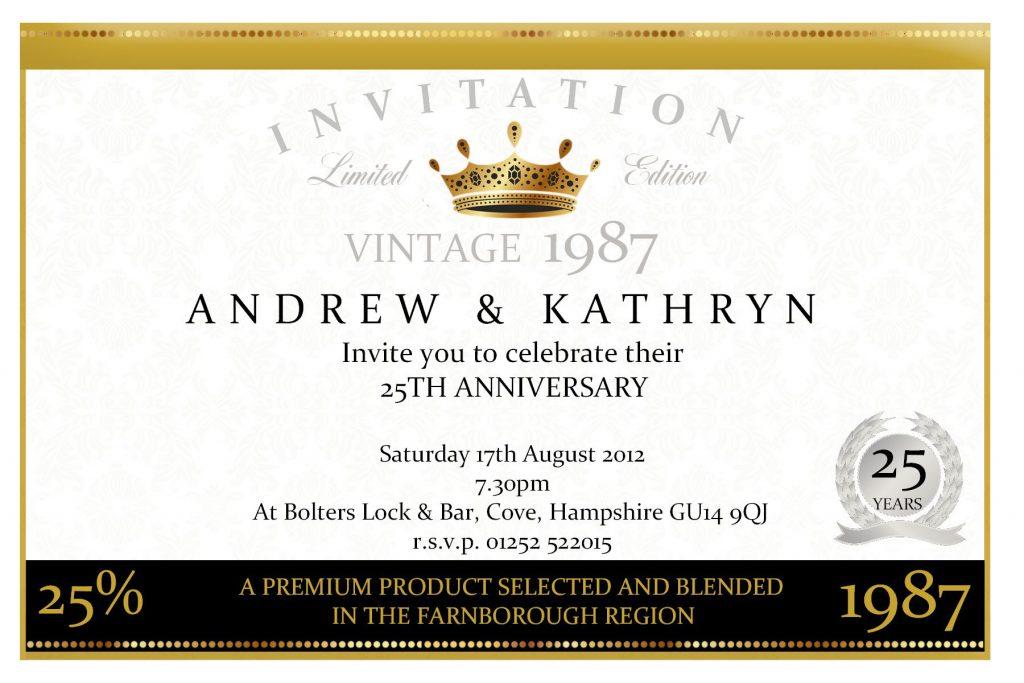 Anniversary Invitation Sample