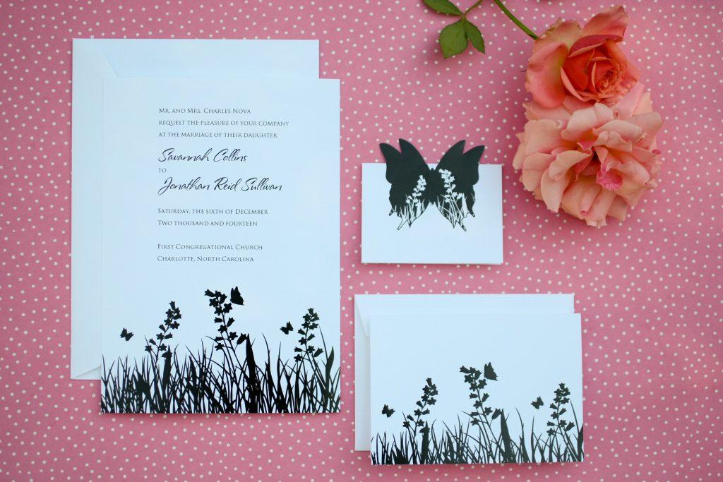Butterfly Wedding Invitation Sample