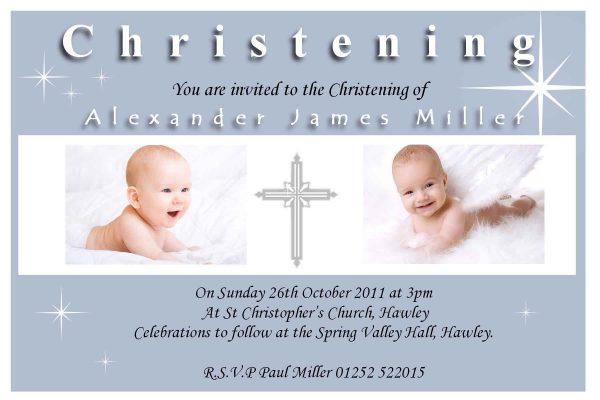 Christening Baptism Invitation