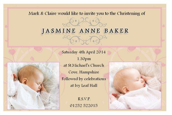 Christening Baptism Invitation Idea