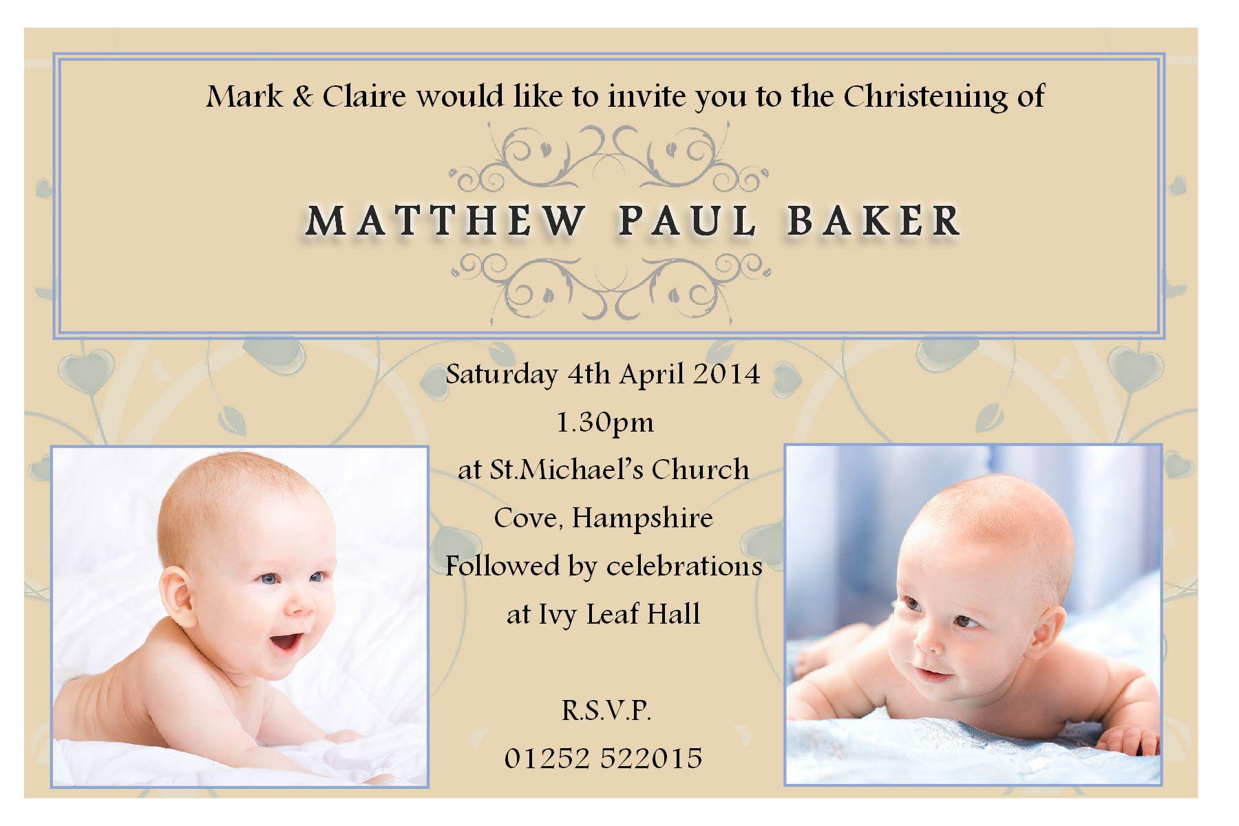Christening Baptism Invitation Quotes