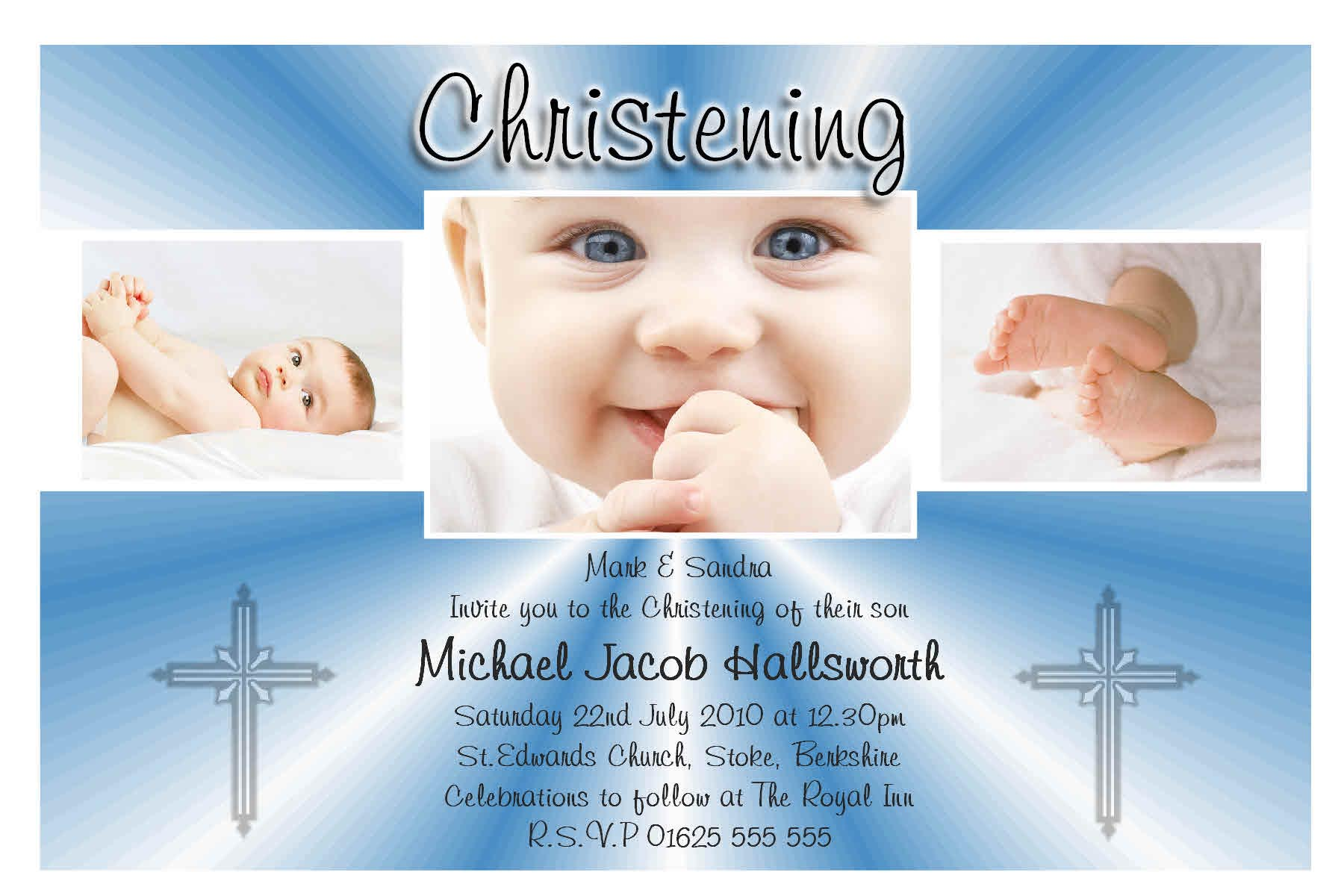 Christening Baptism Invitation Sample