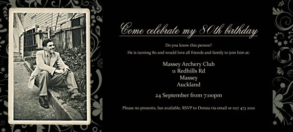 Design Card Birthday Invitation Card