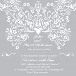 Elegant Wedding Invitation Sample