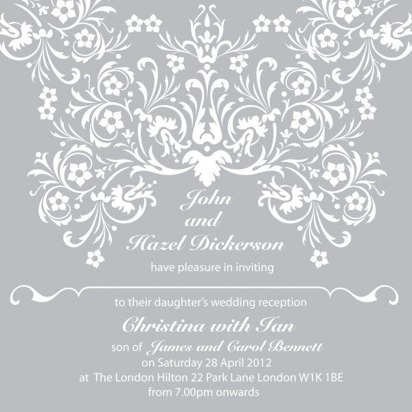 Elegant Wedding Invitation Sample