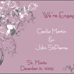 Engagement Invitation Idea