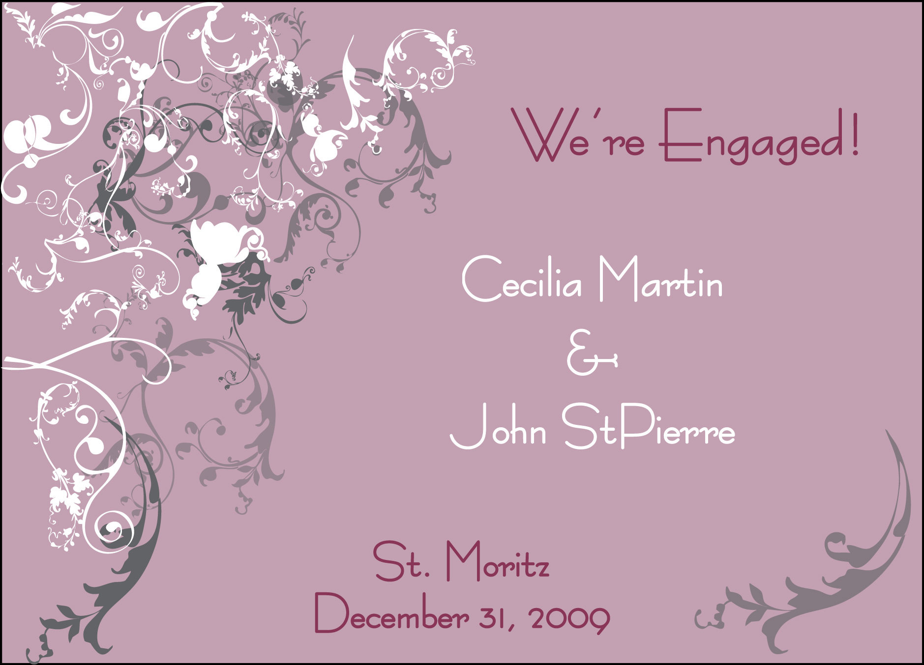 Engagement Invitation Idea