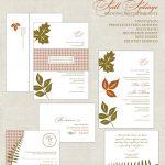 Fall Wedding Invitation Template Example