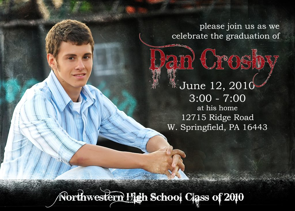 Graduation Invitation Templates Wording