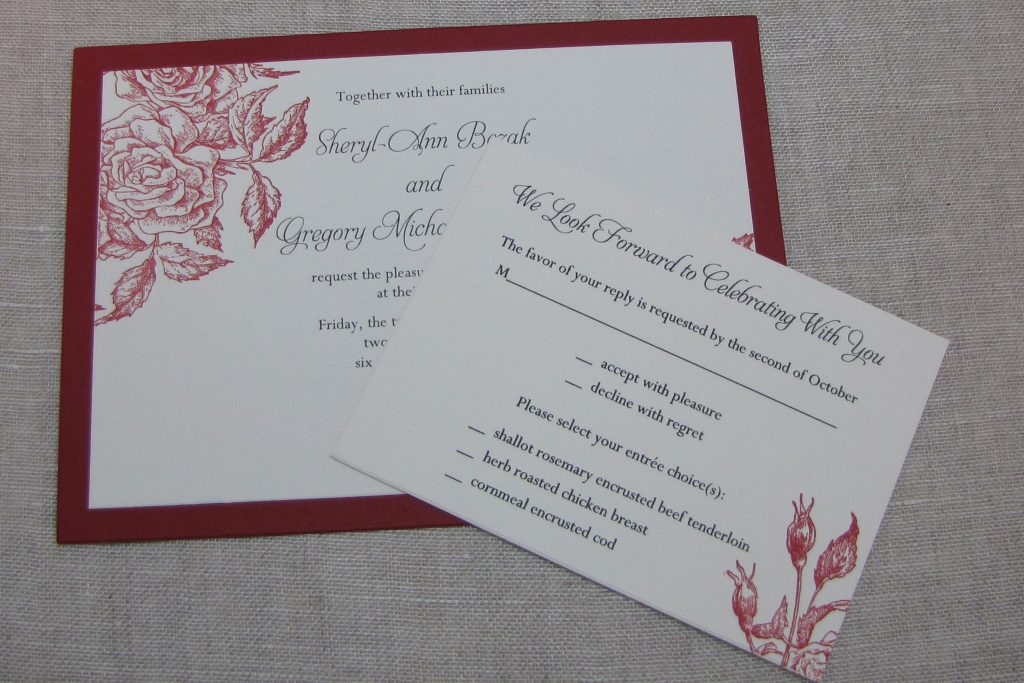 Handmade Wedding Invitation Template Card