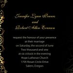 Inexpensive Wedding Invitation Sample
