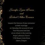Inexpensive Wedding Invitation Sample