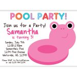 Pool Party Invitation Etiquette