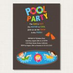 Pool Party Invitation Idea