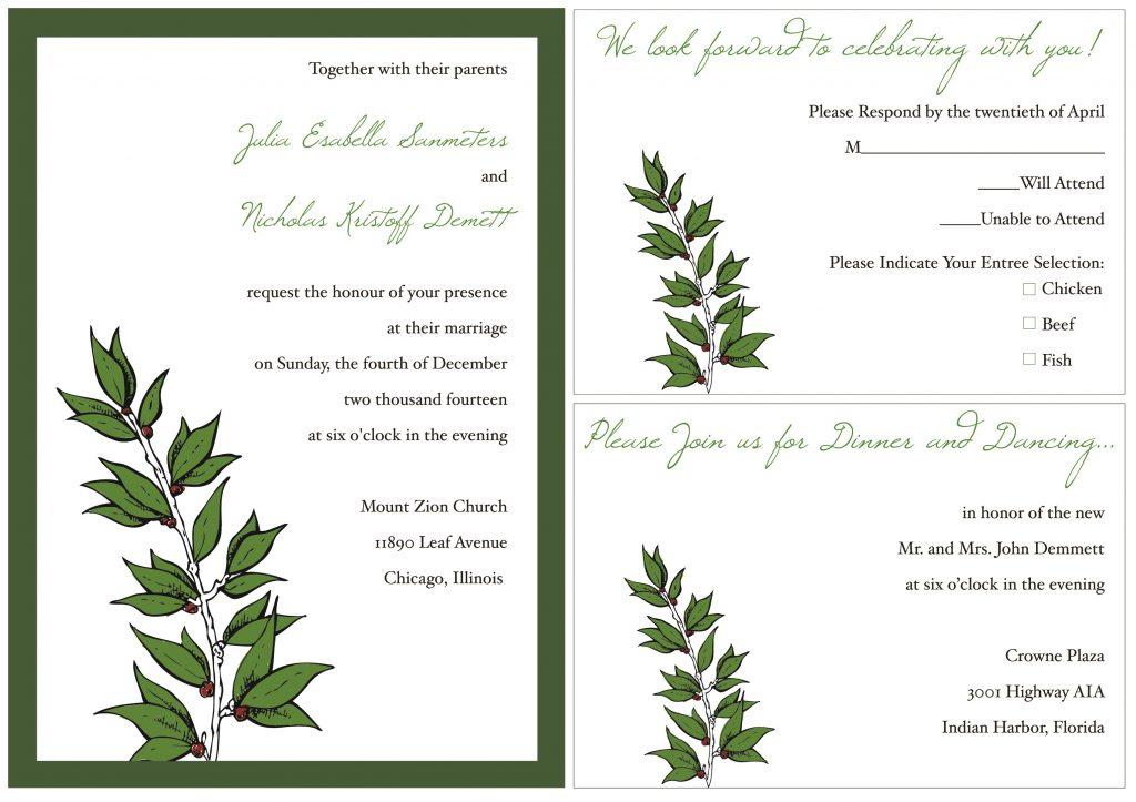 Sample Wedding Invitation Template Card