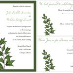 Sample Wedding Invitation Template Card