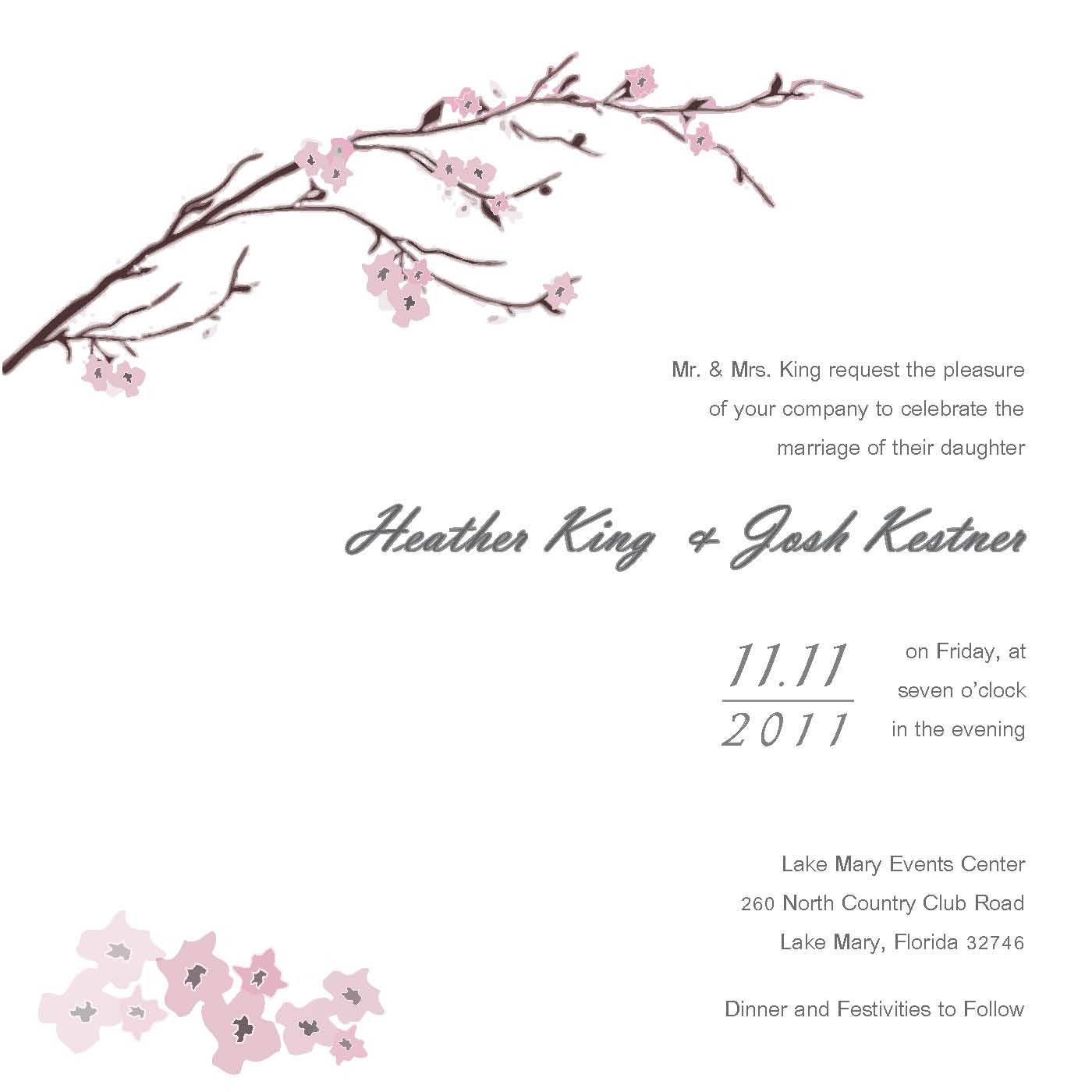 Unusual Wedding Invitation Template