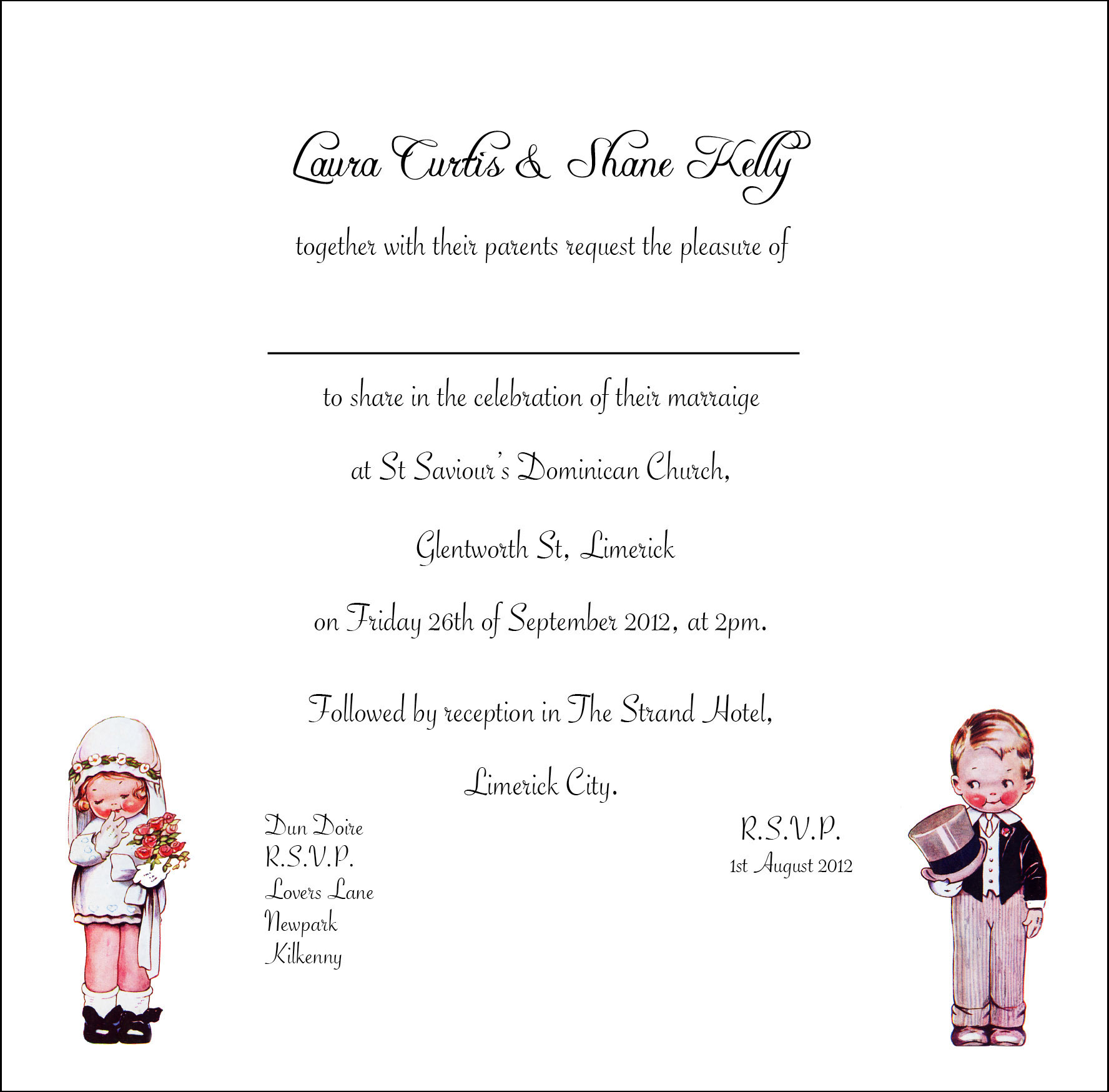 Vintage Wedding Invitation Sample