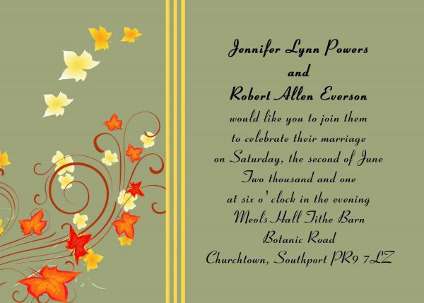Wedding Invitation Samples Template Idea