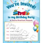 Birthday Invitation Wording Template
