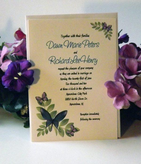 Butterfly Wedding Invitation Etiquette