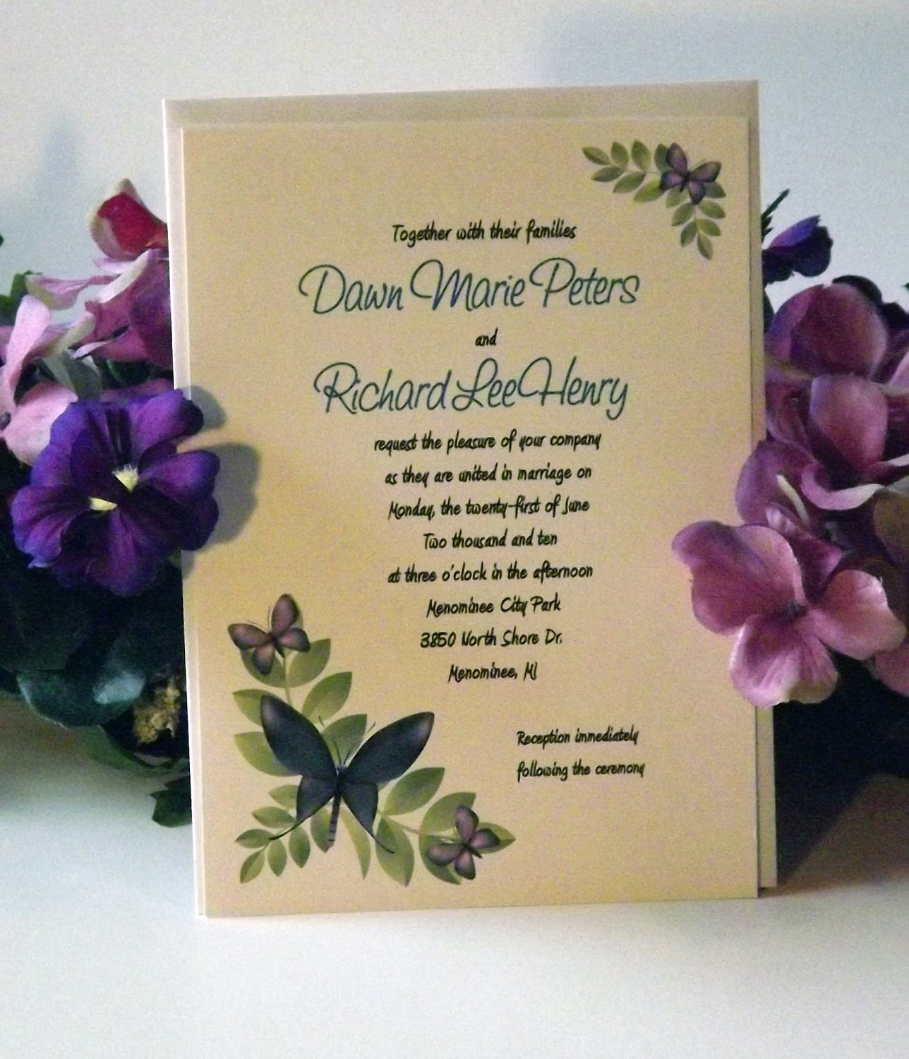 Butterfly Wedding Invitation Etiquette