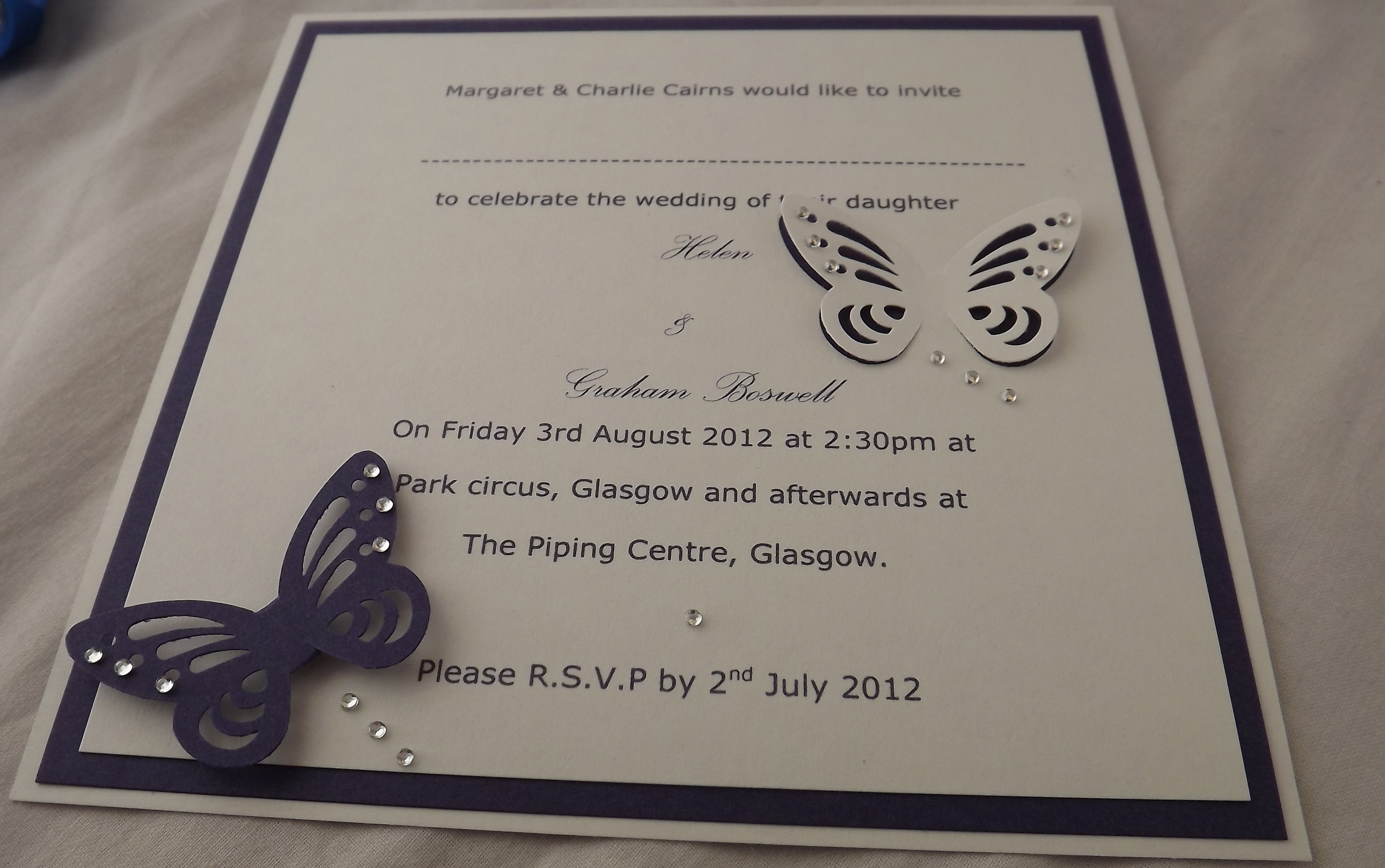 Butterfly Wedding Invitation Online