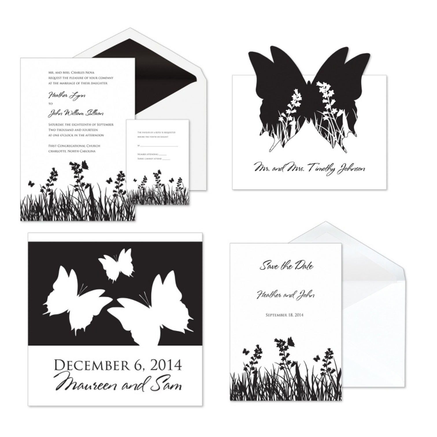 Butterfly Wedding Invitation Template