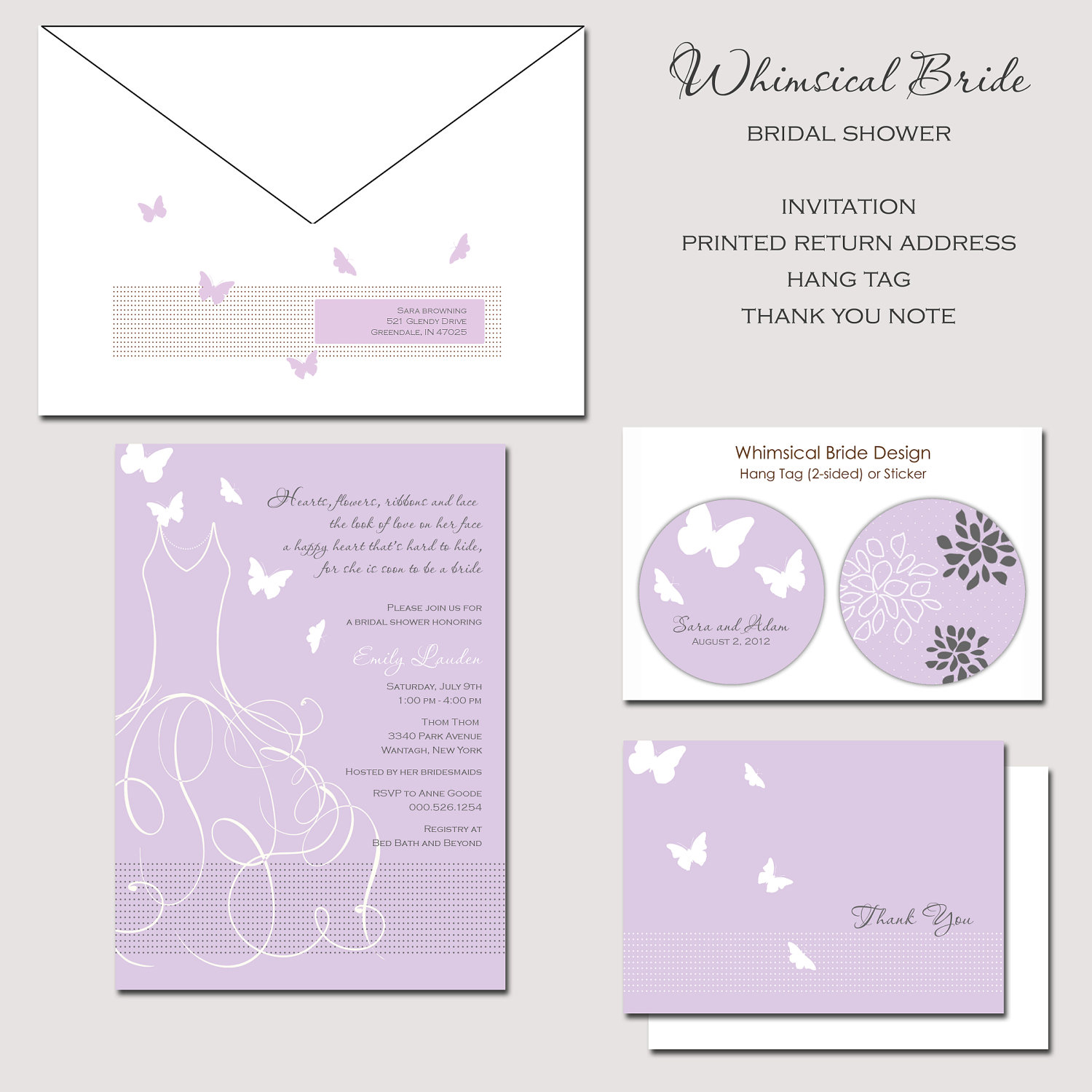 Butterfly Wedding Invitation Wording