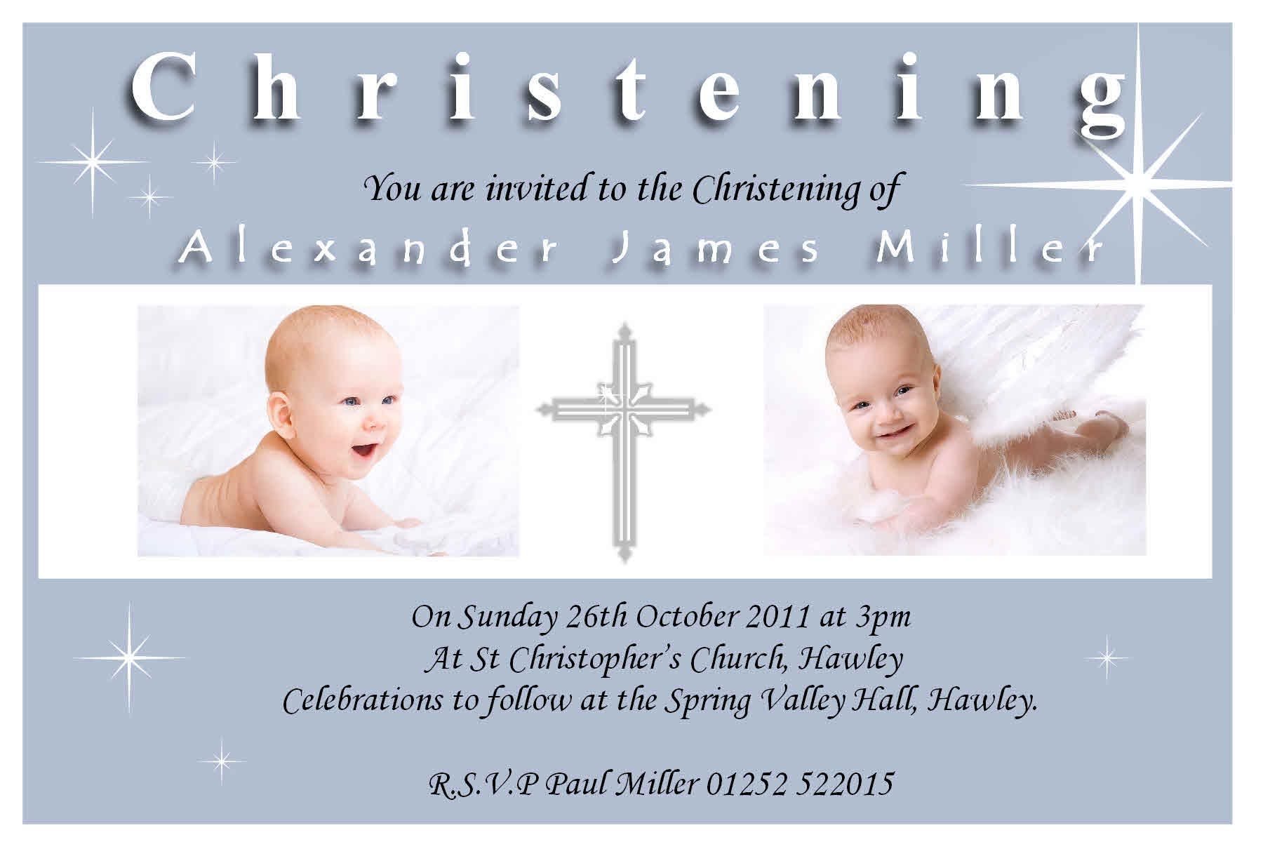 Christening Invitation Sample