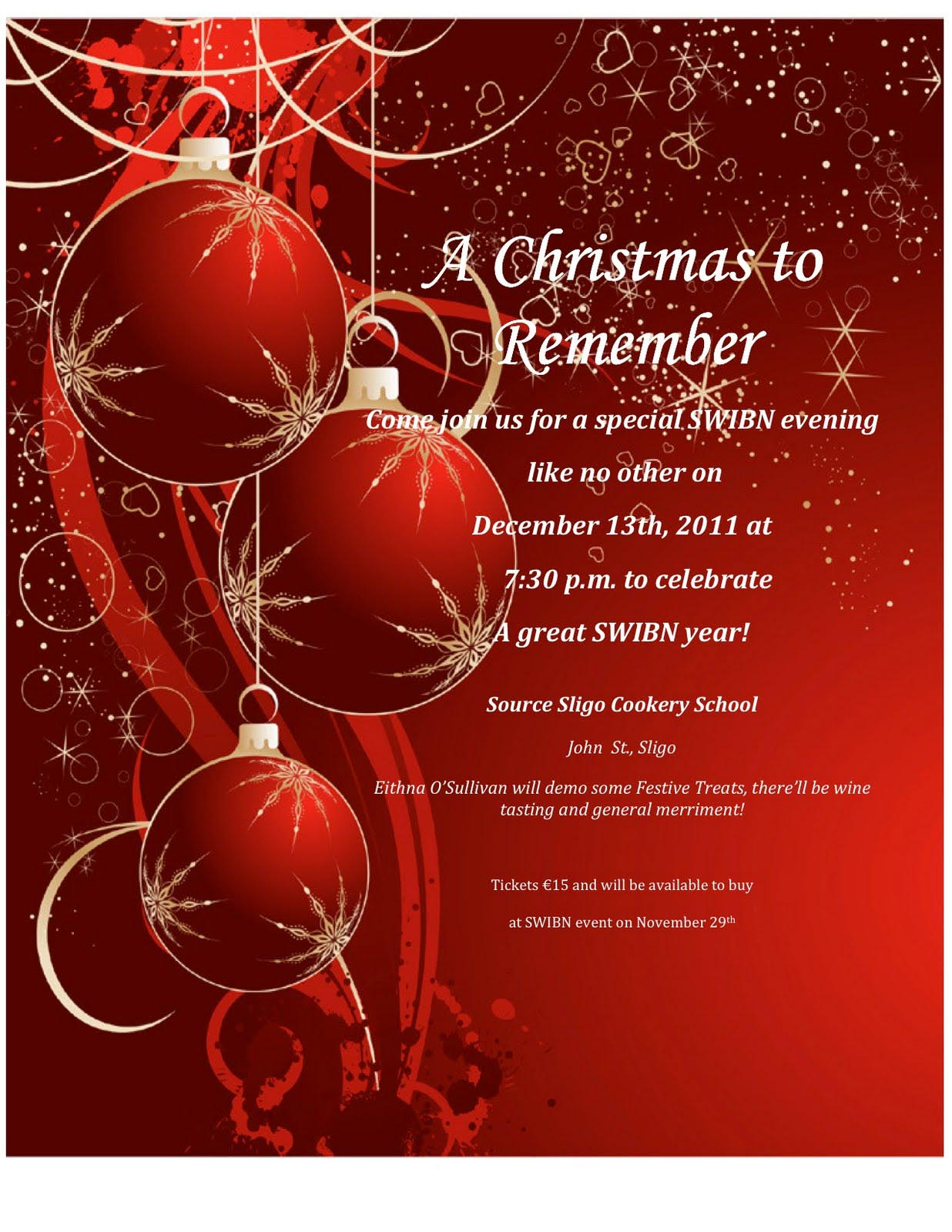 Christmas Party Invitation Wording