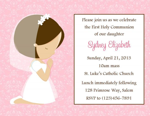 Communion Invitation Template