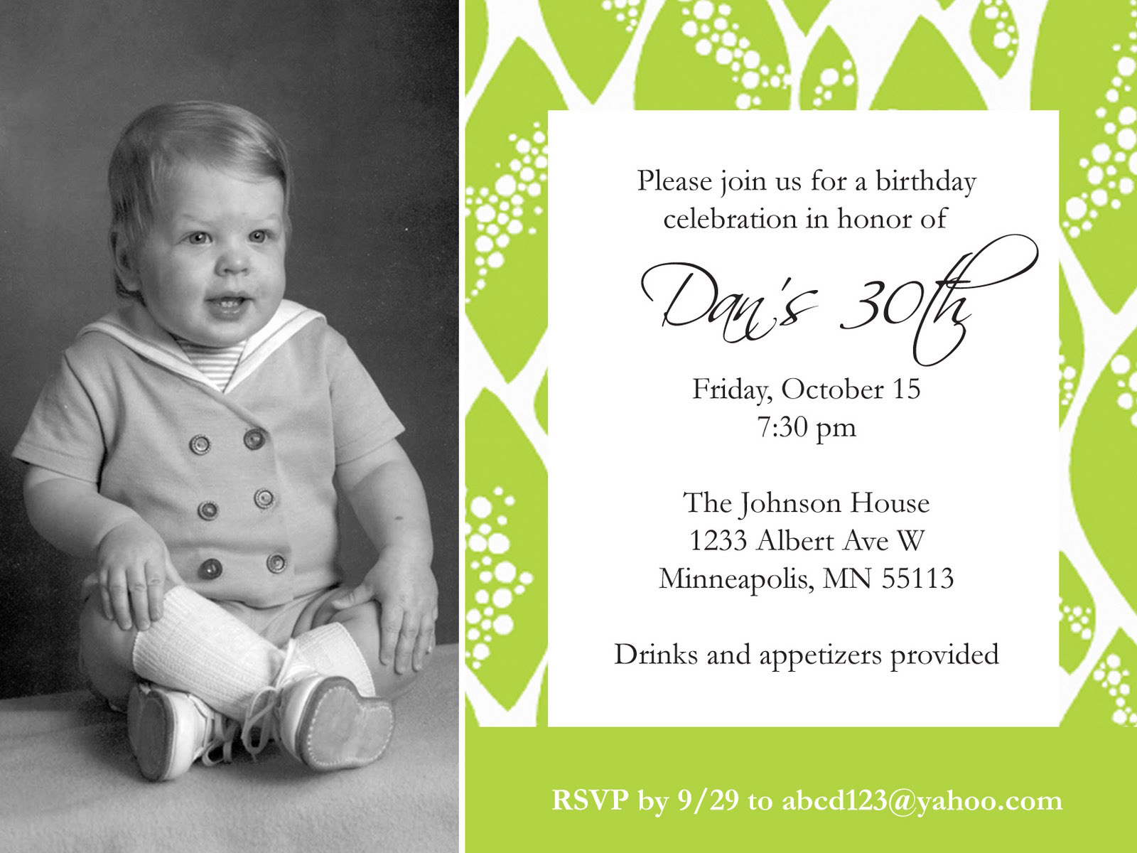 Custom Birthday Invitation Card