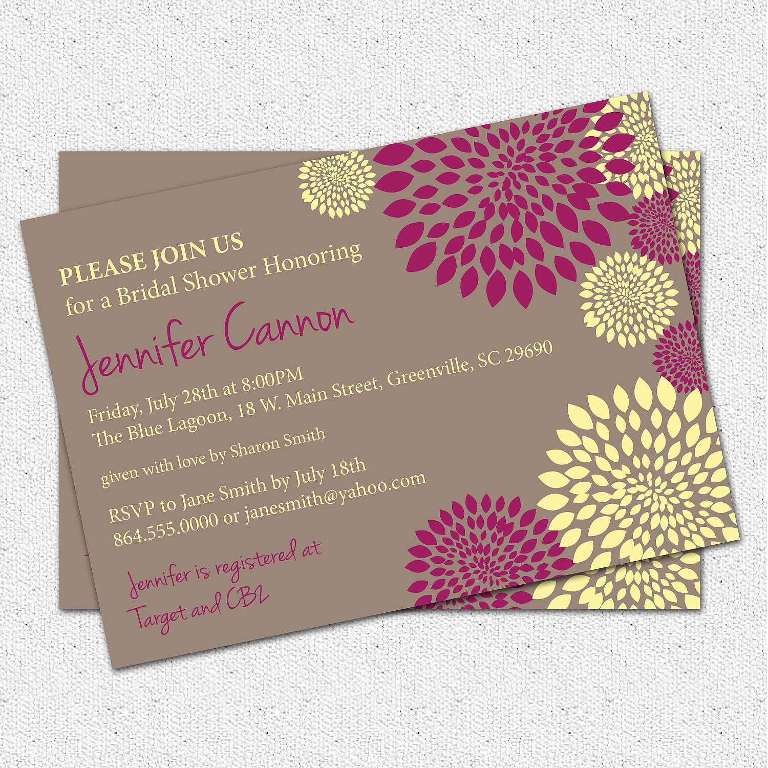 Custom Invitation Template