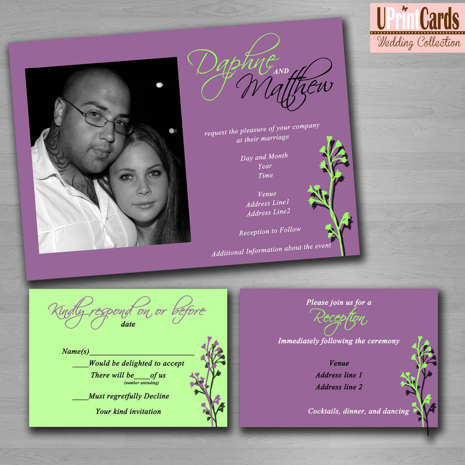 Diy Wedding Invitation Sample