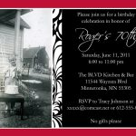 Etiquette Card Birthday Invitation