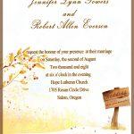 Fall Wedding Invitation Printable