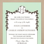 Fall Wedding Invitation Template Card