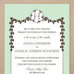 Fall Wedding Invitation Template Card