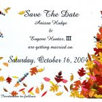 Fall Wedding Invitation Template Idea
