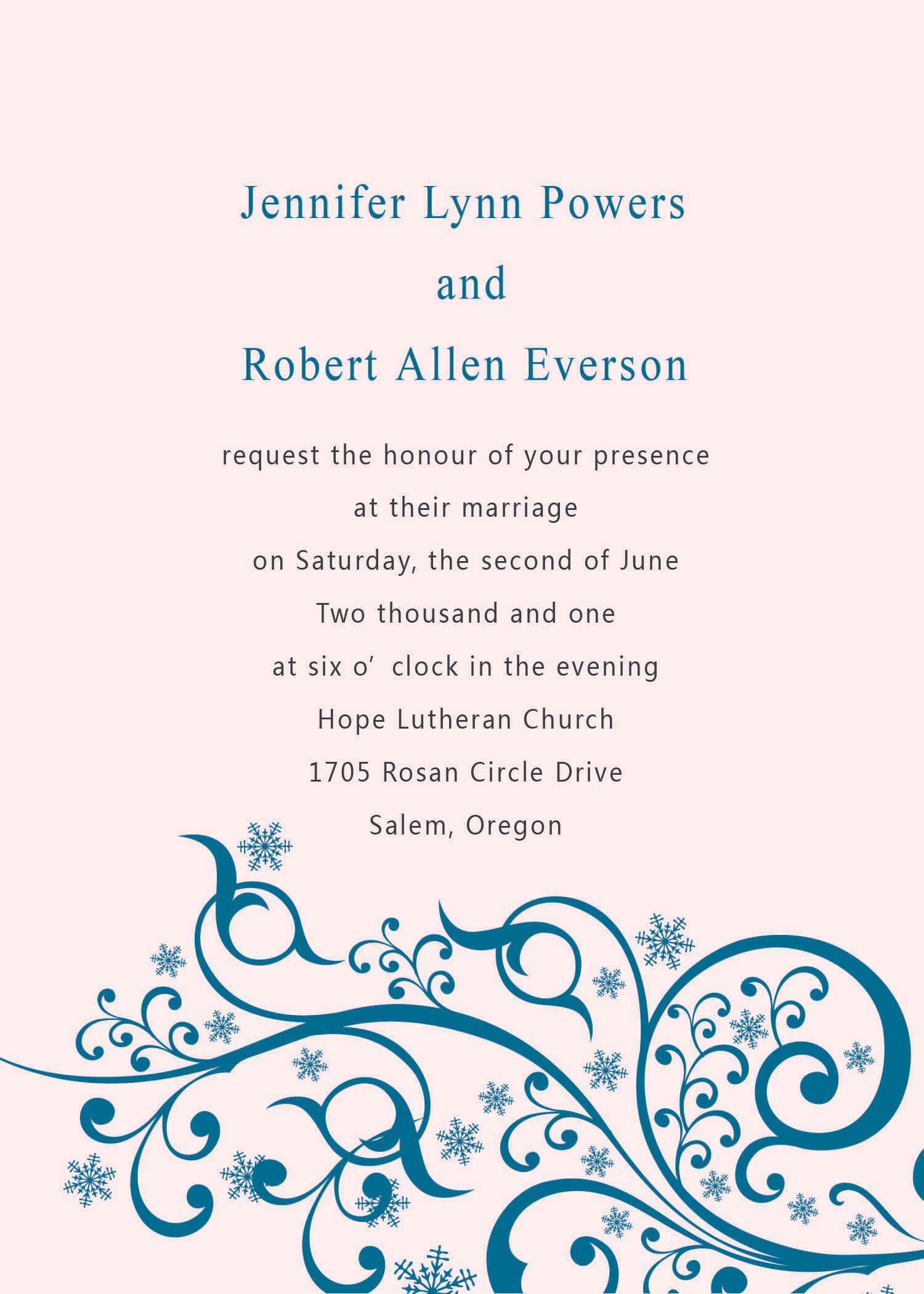 Fall Wedding Invitation Template Quotes