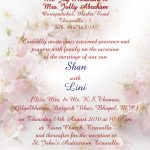 Handmade Wedding Invitation Wording
