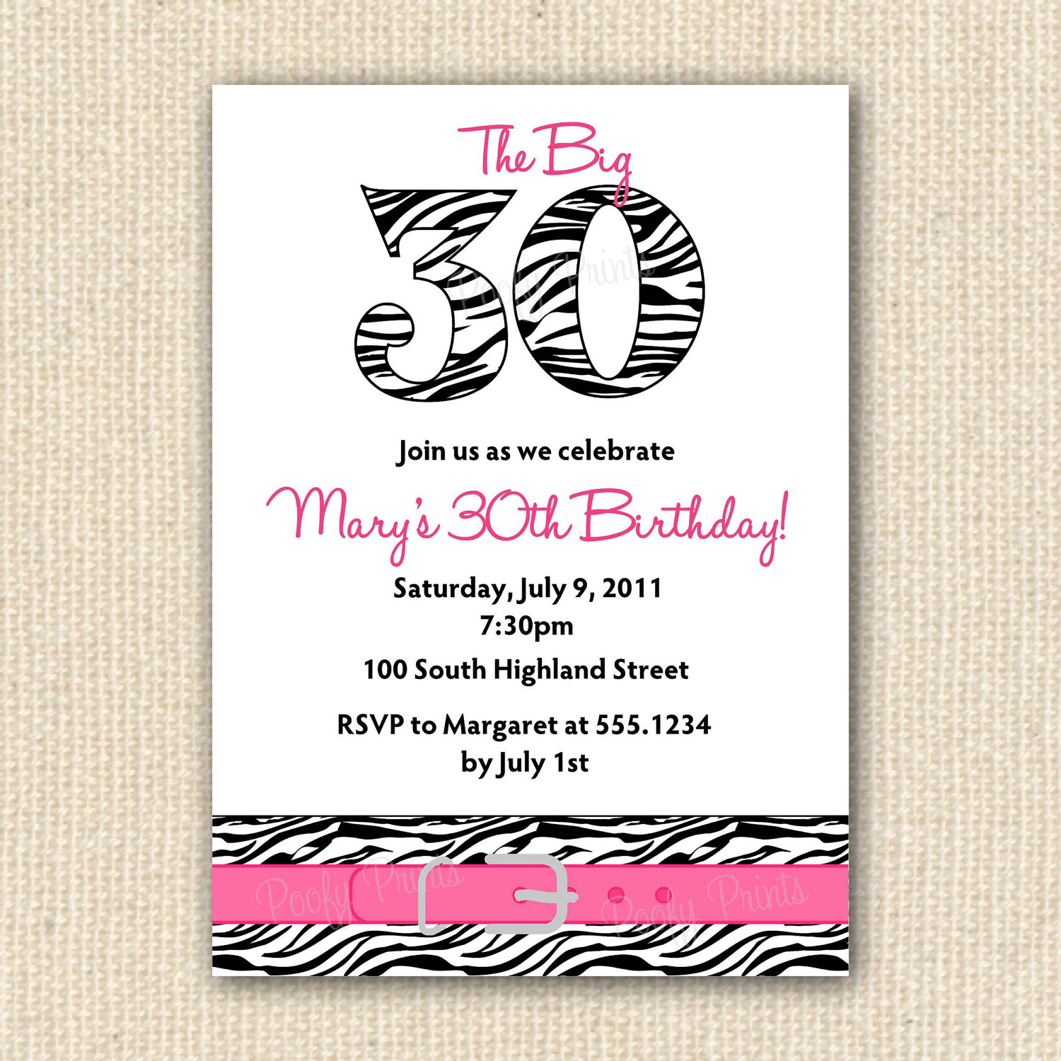 Idea Card Birthday Invitation Sample