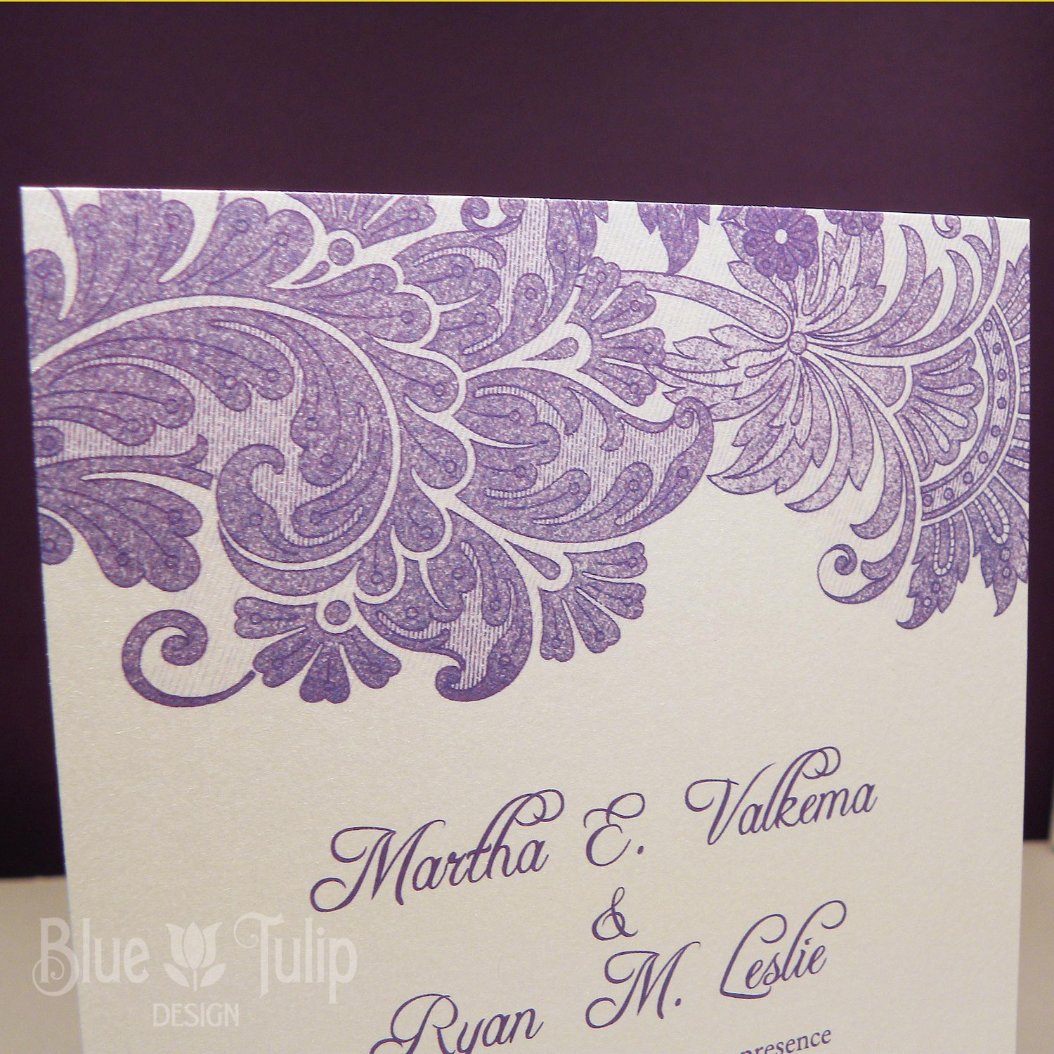 Lace Wedding Invitation Sample