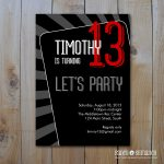 Party Invitation Template Card
