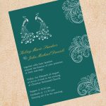 Peacock Inspired Wedding Invitation Etiquette