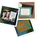 Peacock Inspired Wedding Invitation Online