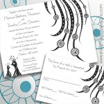 Peacock Inspired Wedding Invitation Printable