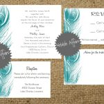 Peacock Inspired Wedding Invitation Template